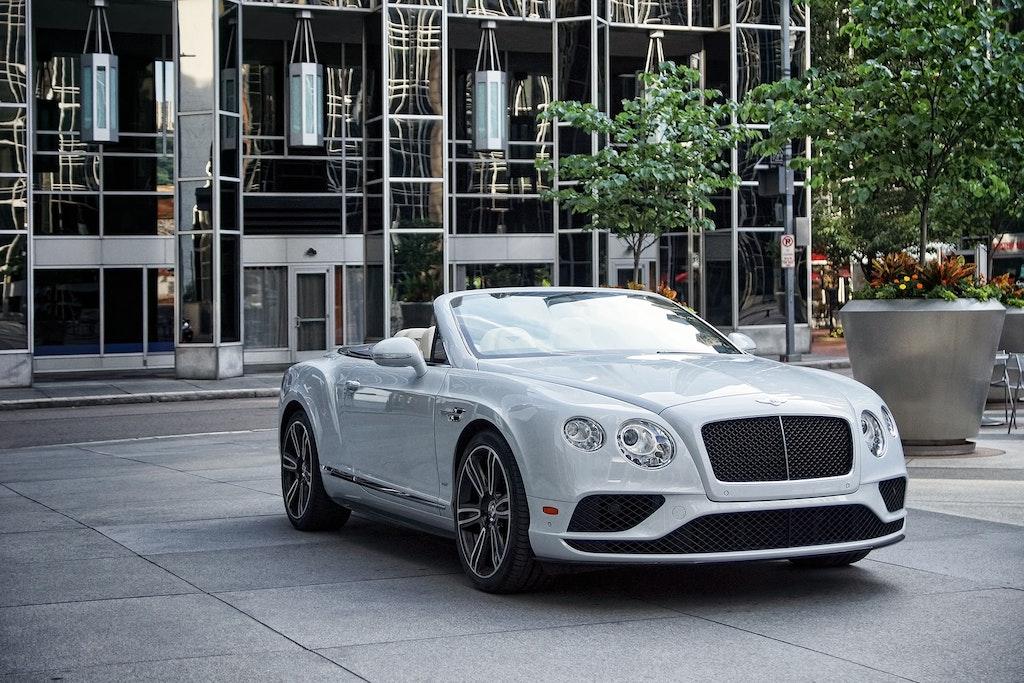 White Bentley Convertible