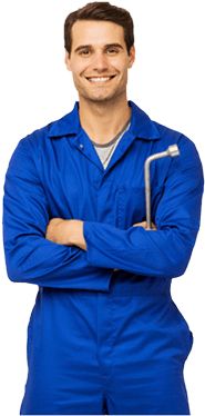 Mechanic in Blue Coveralls