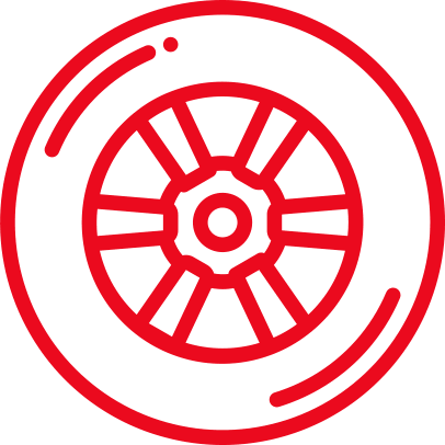 Tires Red Icon