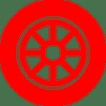 car wheel icon - college grad program - spitzer toyota