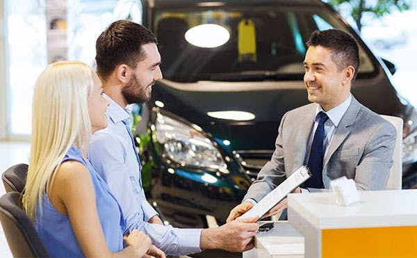 meeting with customers - car loans - finance center