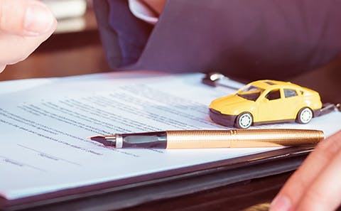 finance form with toy car - spitzer toyota finance center