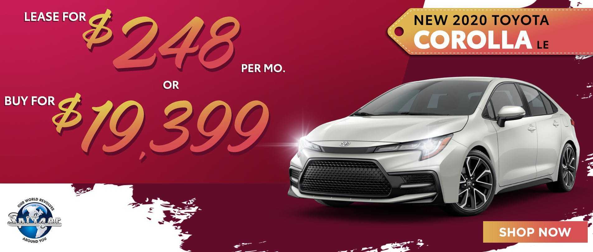 Corolla   Lease for $248 or buy for $19,399