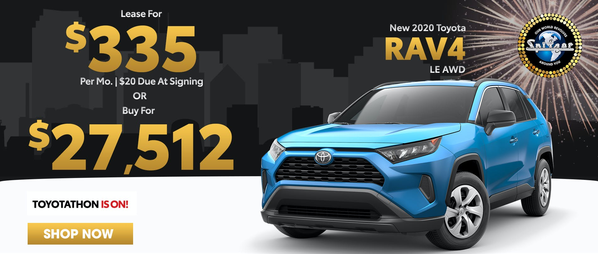 RAV4 | Lease for $335 per mo or buy for $27,512