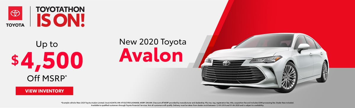 Get up to $4,500 off a new 2020 Toyota Avalon in Johnson City TN