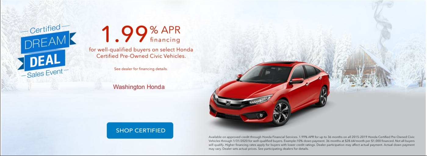Washington Honda Certified Used Vehicle