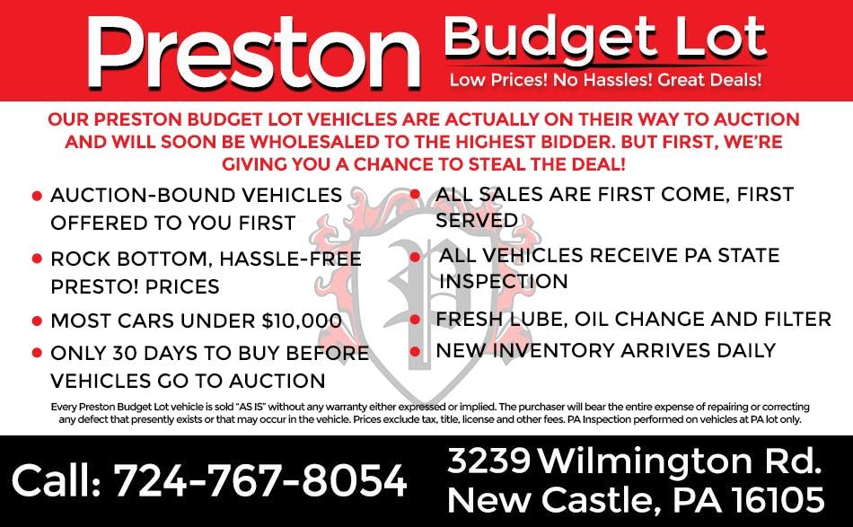 Preston Budget Lot