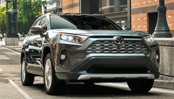 gray/silver 2020 toyota RAV4 - blog post image - front view