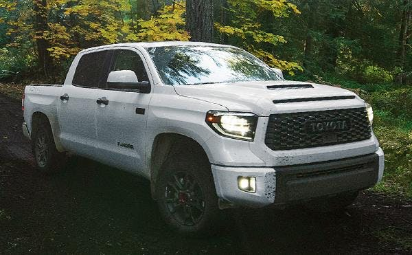 the 2020 toyota tundra - white exterior - front view - blog post image