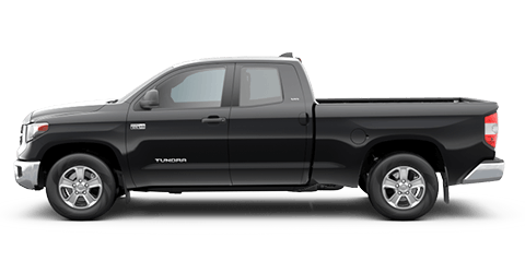 red toyota tundra - driver side