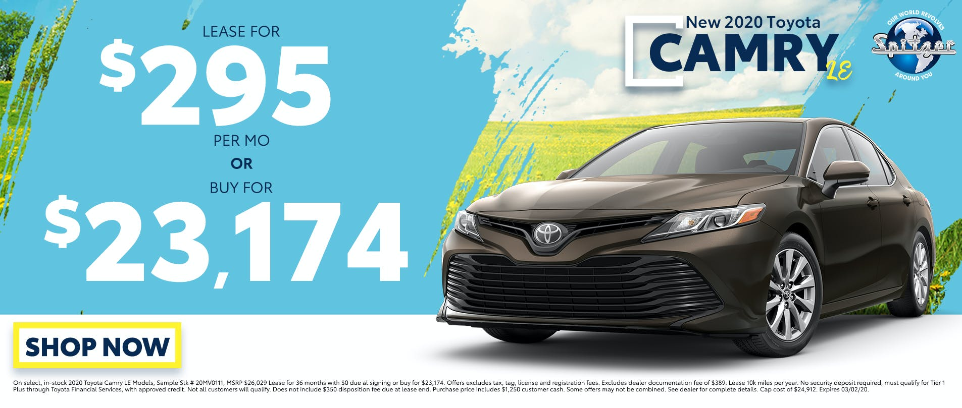 Camry | Lease for $295 per mo