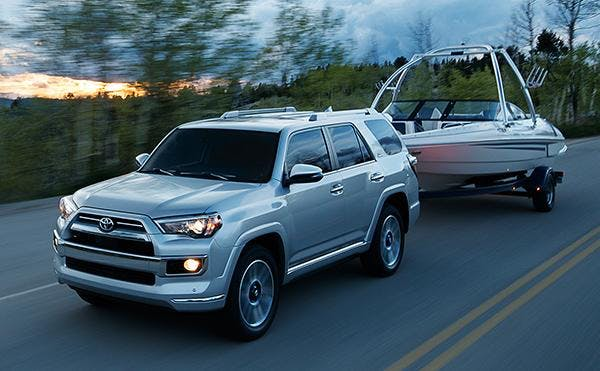 2020 Toyota 4Runner towing boat
