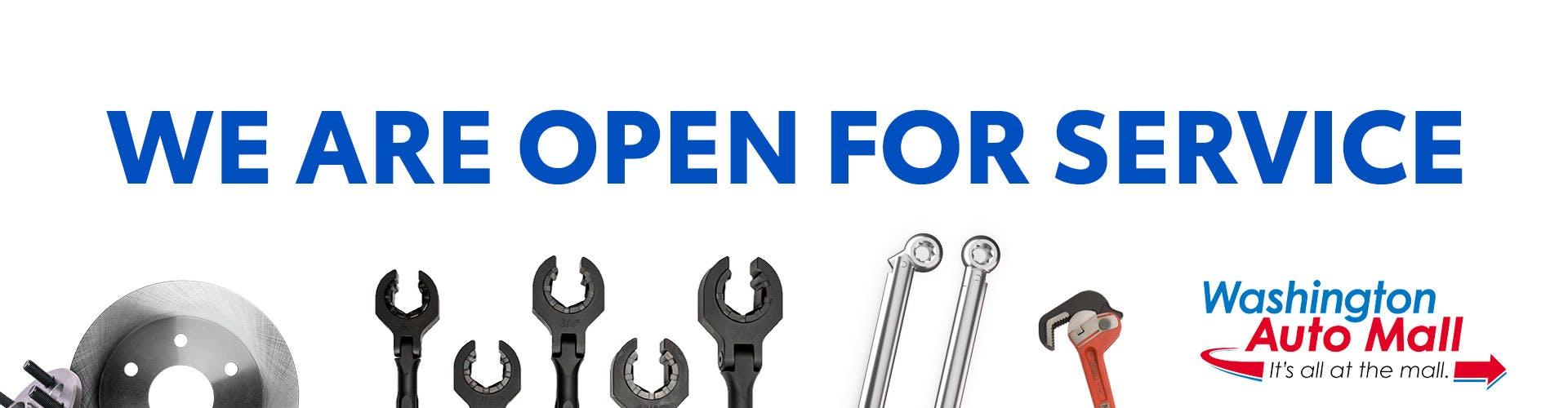 open for service: washington auto mall