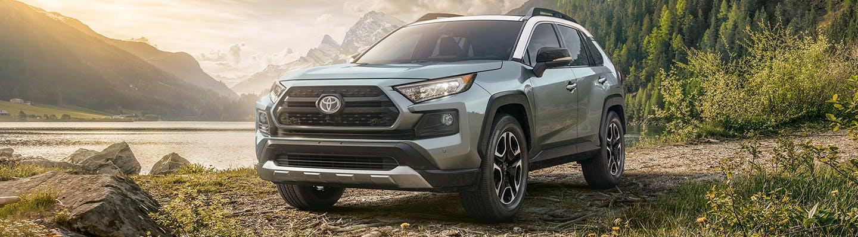 new toyota RAV4 - front view - mountainous backdrop