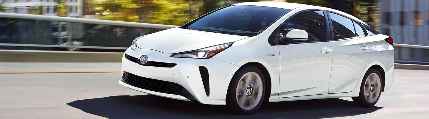 2021 toyota prius - white exterior - blog post