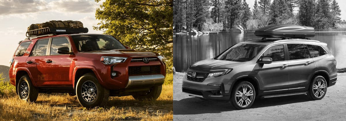 Taylor Toyota of Hermitage - Compare the 2021 Toyota 4Runner vs the 2021 Honda Pilot near Hubbard OH