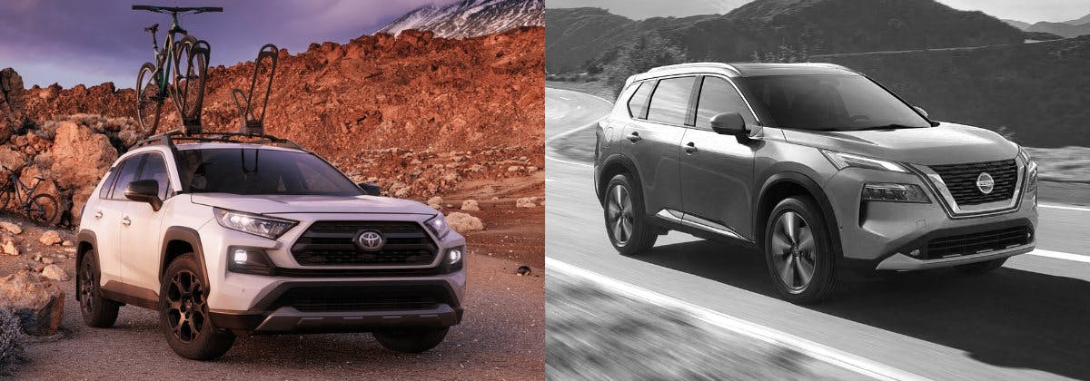 Taylor Toyota of Hermitage - Compare the 2021 Toyota RAV4 vs 2021 Nissan Rogue near Greenville PA