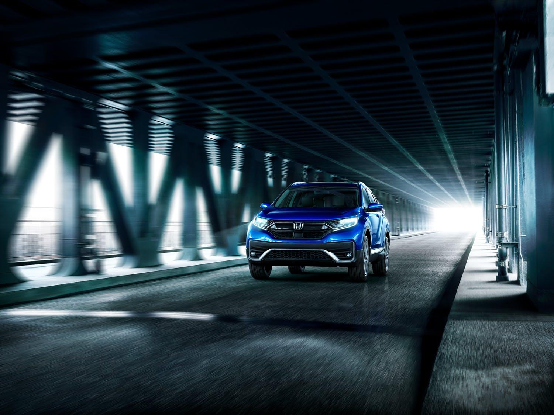 Washington Honda is a Honda Dealership near Wolfdale, PA | 2020 Honda CR-V driving through a tunnel