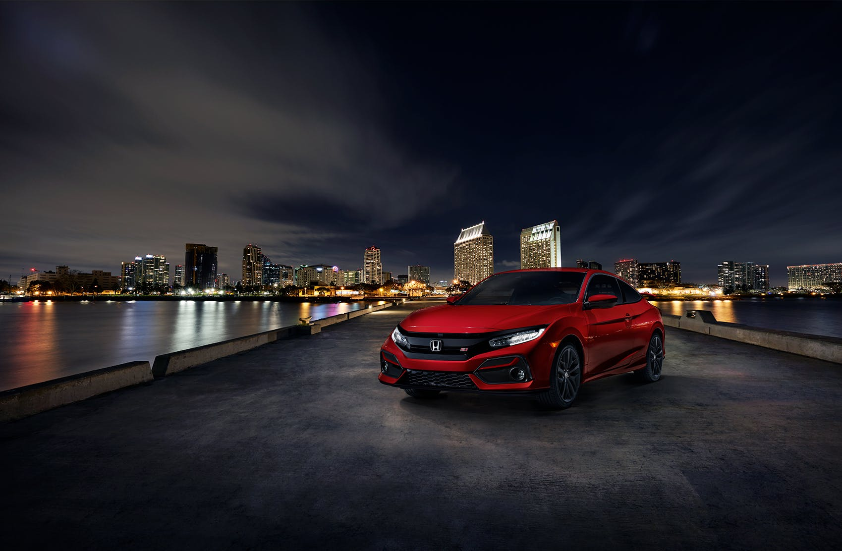 Washington Honda is a Honda Dealership near Wolfdale, PA | 2020 Honda Civic Coupe at night