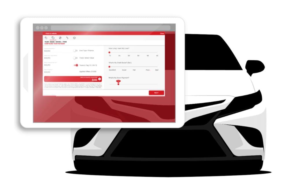 shopper express test drive phone app and car