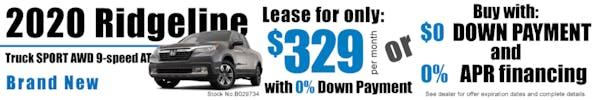 2020 Ridgeline Truck SPORT AWD 9-Speed AT