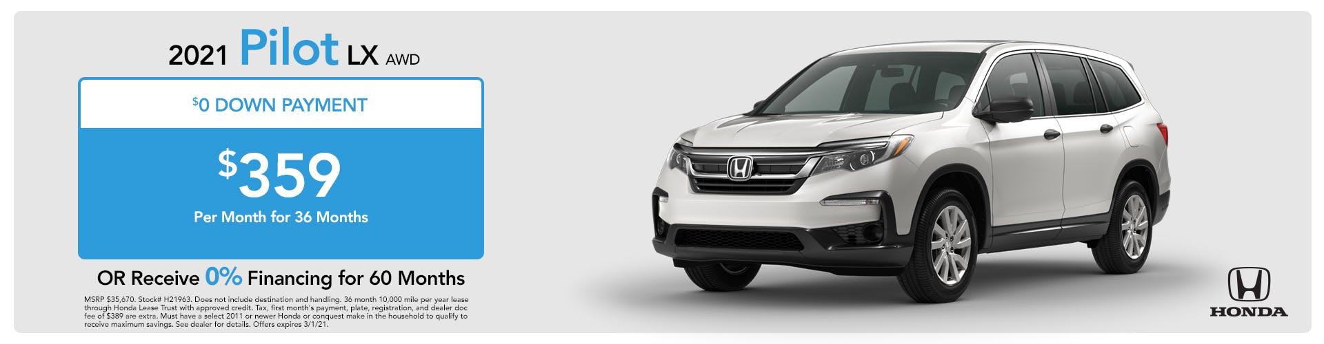 2021 Honda Pilot LX
