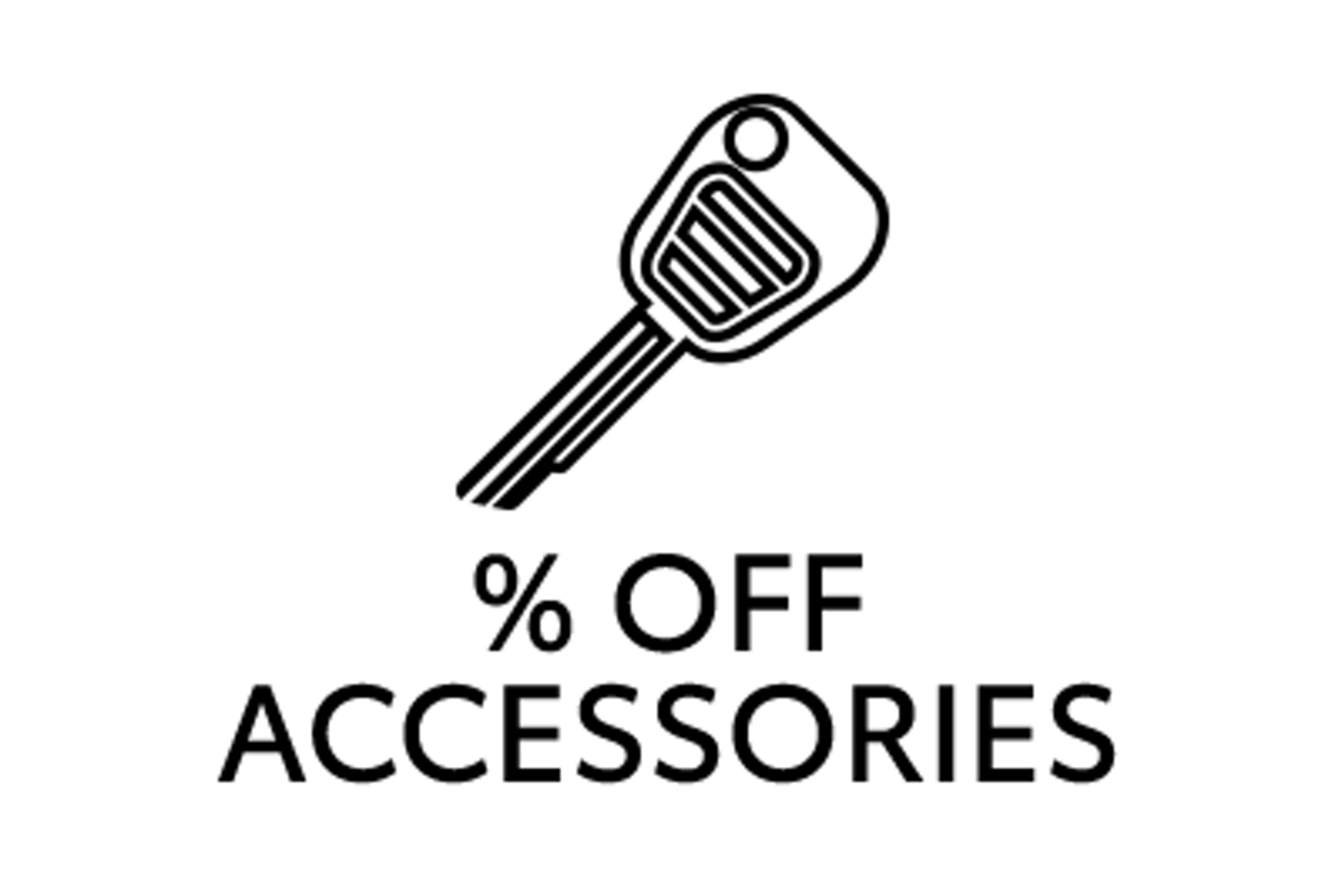 percent off accessories