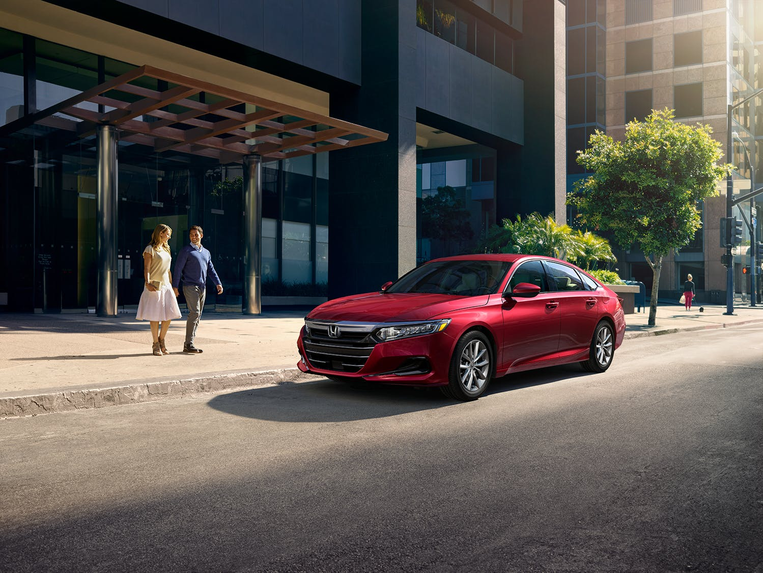 Washington Honda is a Honda Dealership in Washington near Waynesburg PA | 2021 Honda Accord parked outside of building