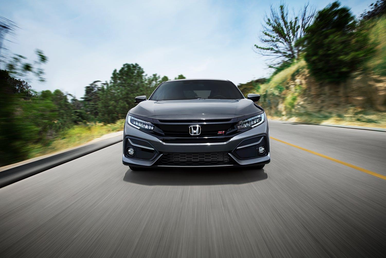 Washington Honda is a Honda Dealership in Washington near Waynesburg PA | Front view of 2021 Honda Civic driving down road