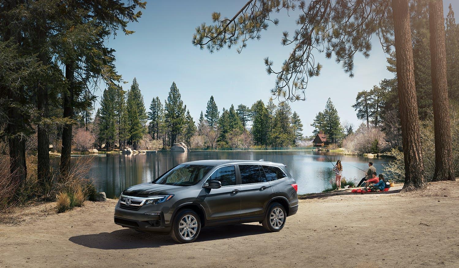 Washington Honda is a Honda Dealership in Washington near Waynesburg PA | 2021 Honda Pilot parked by the lake