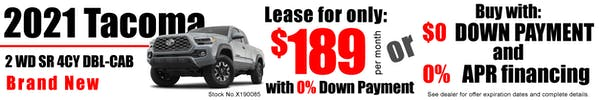 2021 Tacoma 2WD D-Cab 4CY 4x2