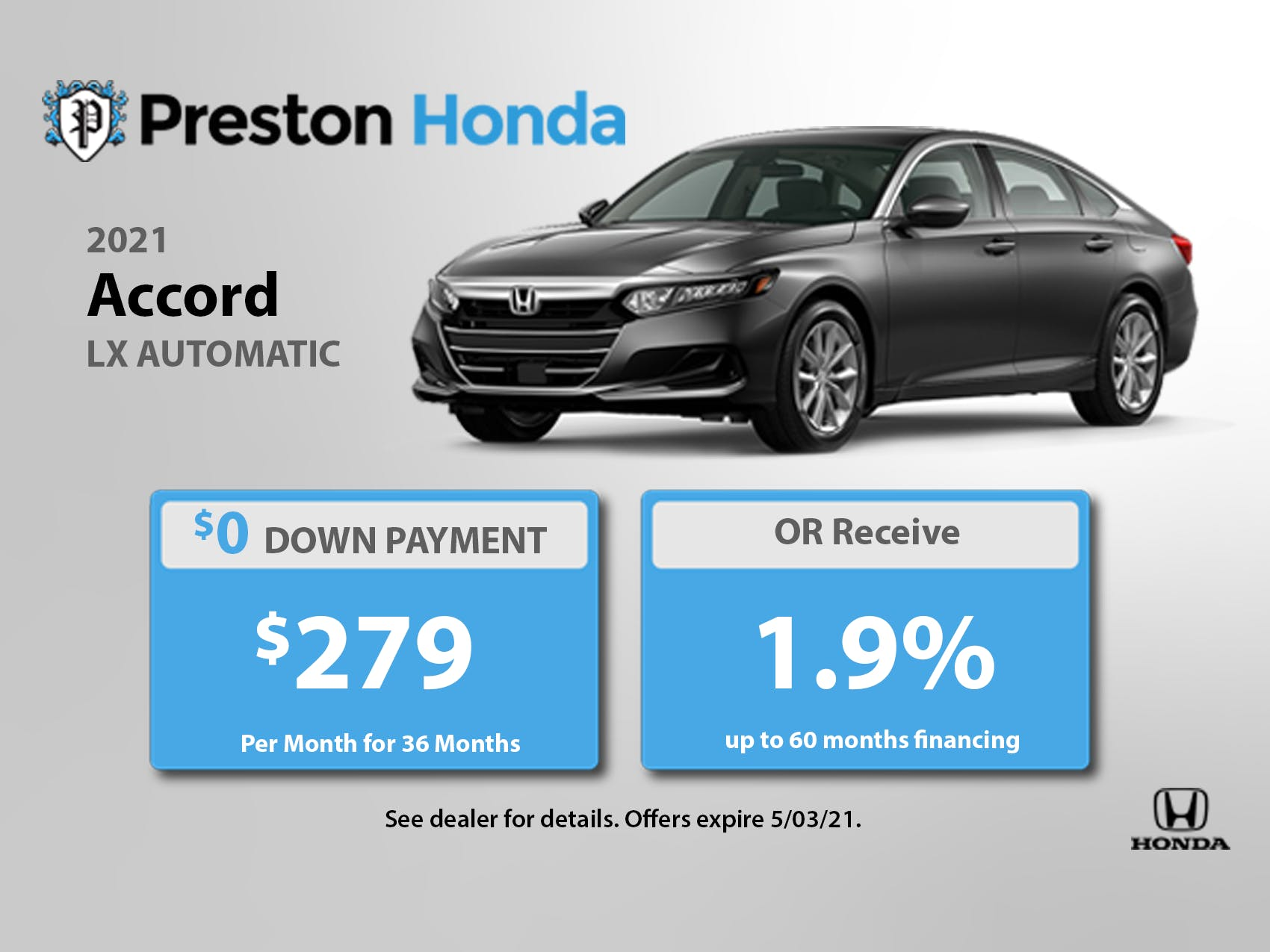 2021 Accord Sale