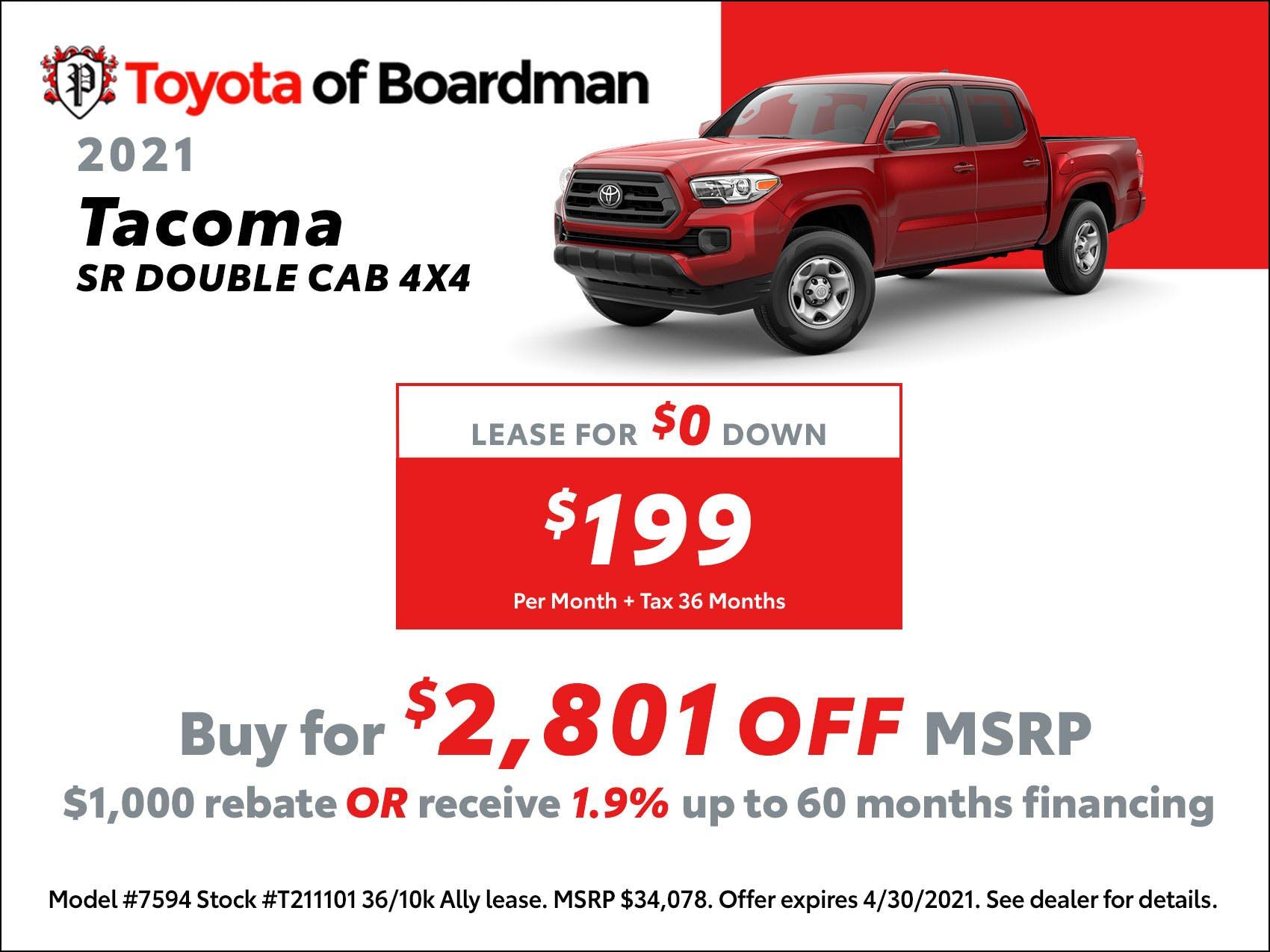 2021 Tacoma Sale