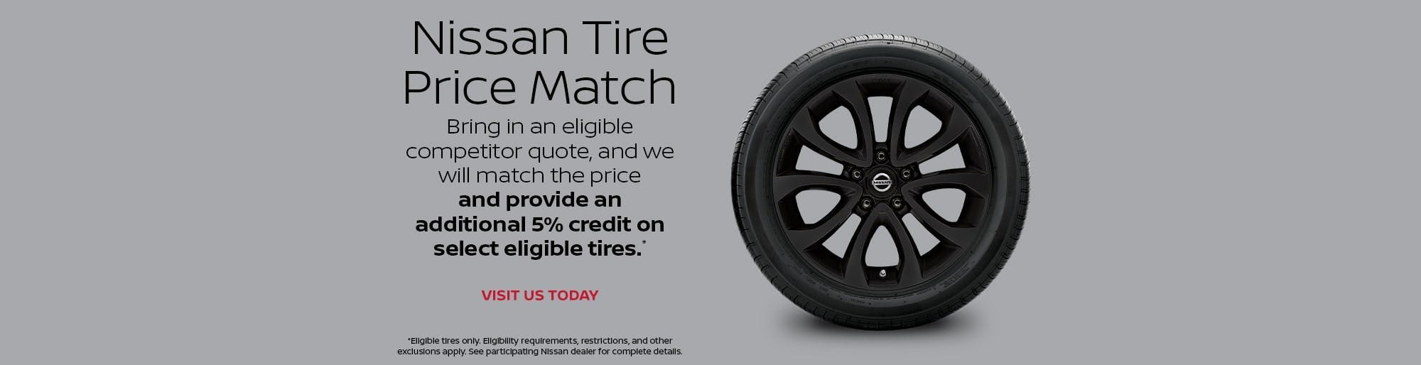 Nissan Tire Price Match
