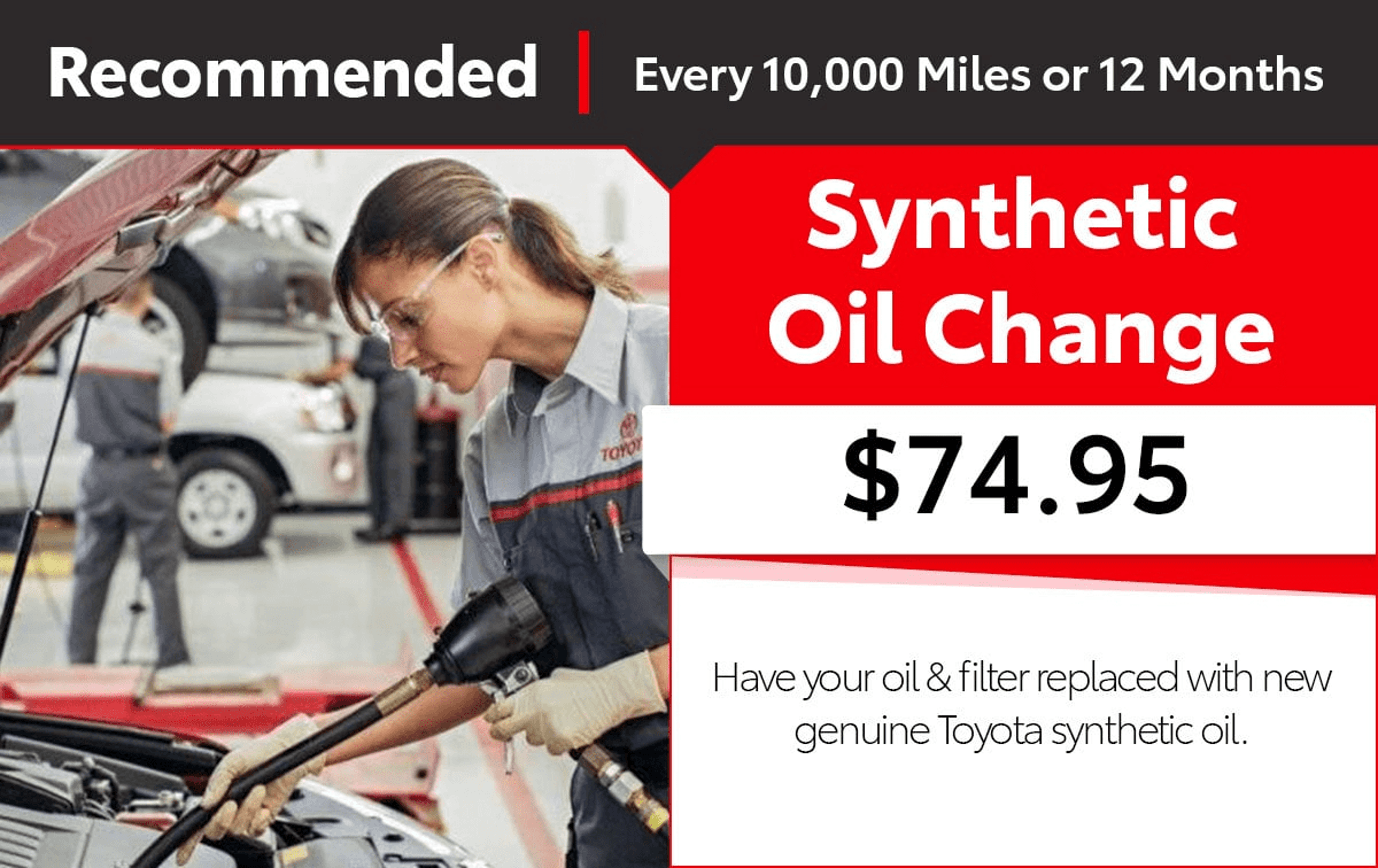Toyota Service Oil Change Coupon