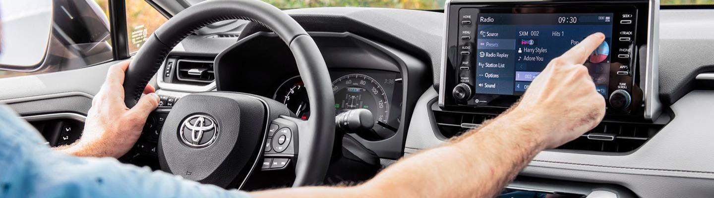 Driving 2021 Toyota RAV4 off-road
