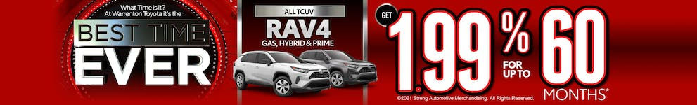 *1.99% 60-month APR on approved credit through TFS at $17.48 per $1000 financed. Vehicles subject to prior sale. Exclusions may apply, see dealer for full details. All sales are plus taxes, tags and $695 processing. Expires 11/1/2021.
