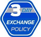Complimentary 3 Day Exchange Policy