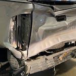 Damaged Toyota Tundra