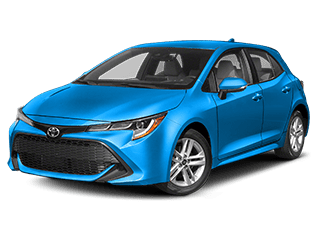 toyota corolla hatchback - front side