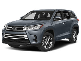 toyota 2019 highlander - front side