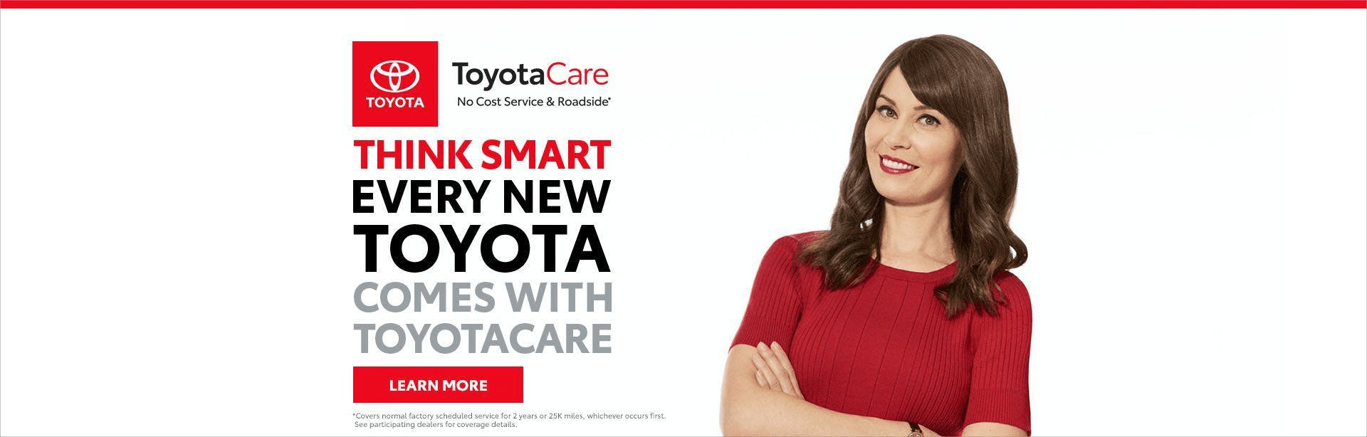 toyota think smart, toyota car - banner - south hills toyota