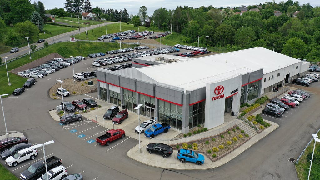 South Hills Toyota is a Toyota Dealership in Canonsburg near Meadowlands PA | Aerial view of South Hills Toyota Dealership