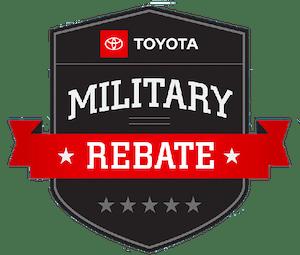toyota military rebate - specials